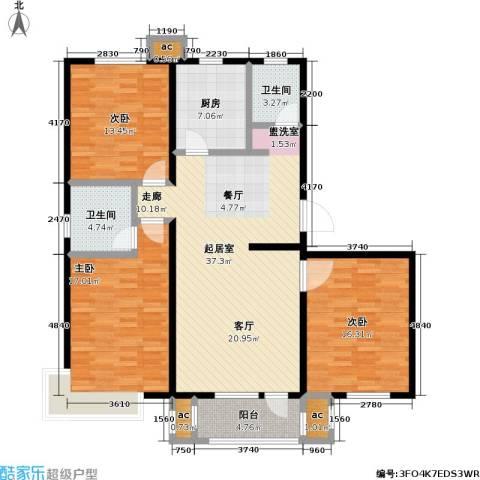 紫金东郡3室0厅2卫1厨151.00㎡户型图