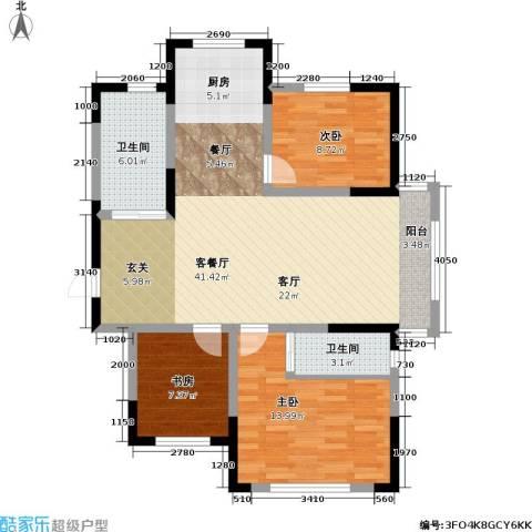 九新雾凇水岸3室1厅2卫0厨120.00㎡户型图