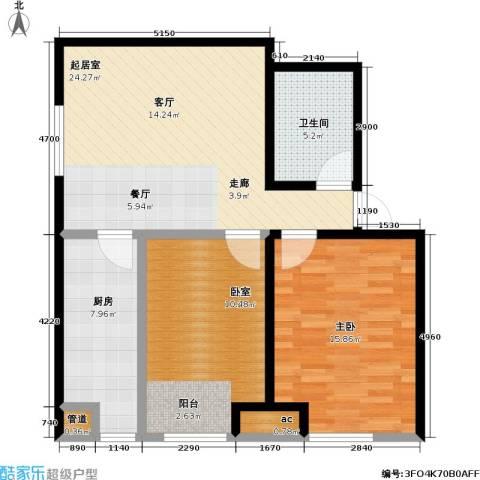 东北MALL2室0厅1卫1厨96.00㎡户型图