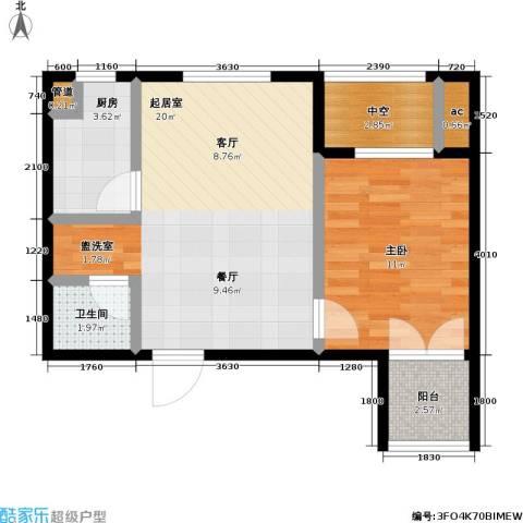 东北MALL1室0厅1卫1厨63.00㎡户型图