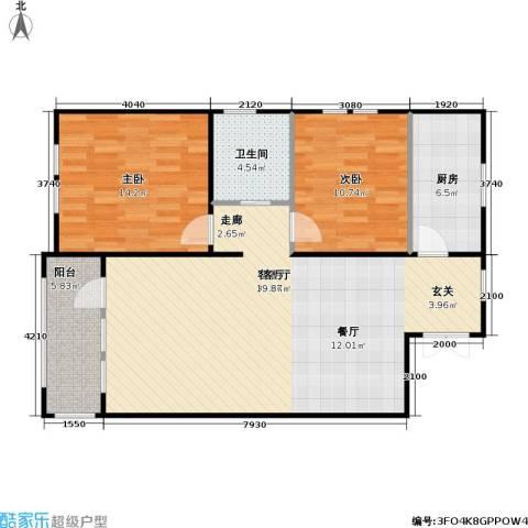 花园小区2室1厅1卫1厨111.00㎡户型图