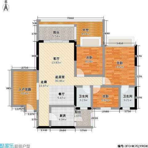天悦城3室0厅2卫1厨114.00㎡户型图