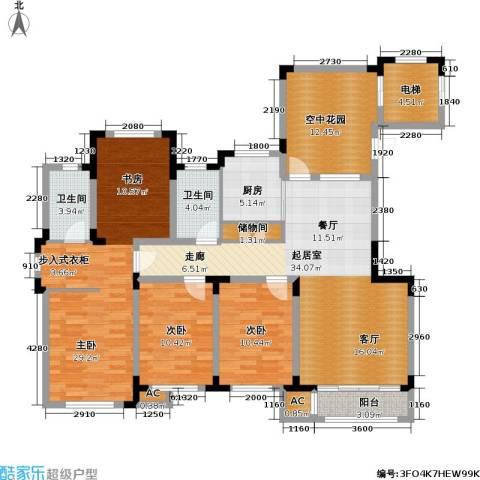 绿地・国际花都3室0厅2卫1厨173.00㎡户型图