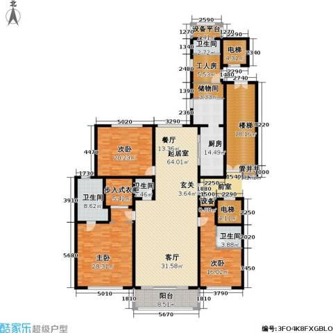 万达大湖公馆3室0厅4卫1厨243.00㎡户型图