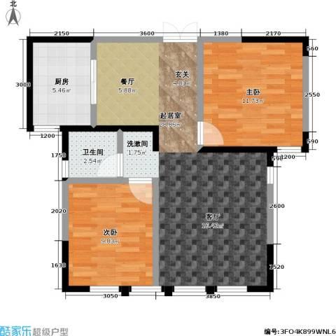 盛达金盘2室0厅1卫1厨82.00㎡户型图