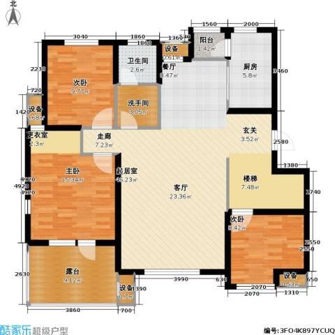 上城雅园3室0厅1卫1厨194.00㎡户型图