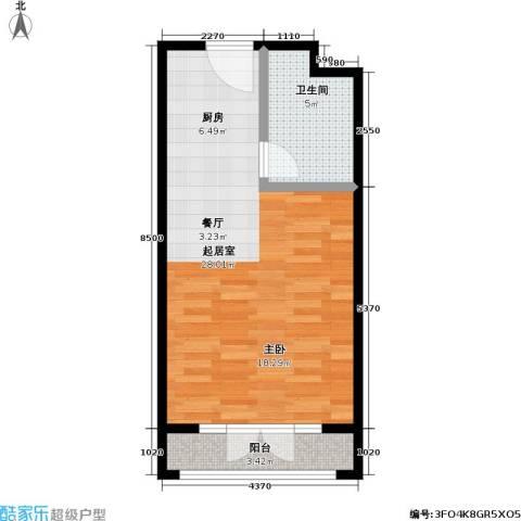 汤INN温泉酒店式公寓1卫0厨41.00㎡户型图