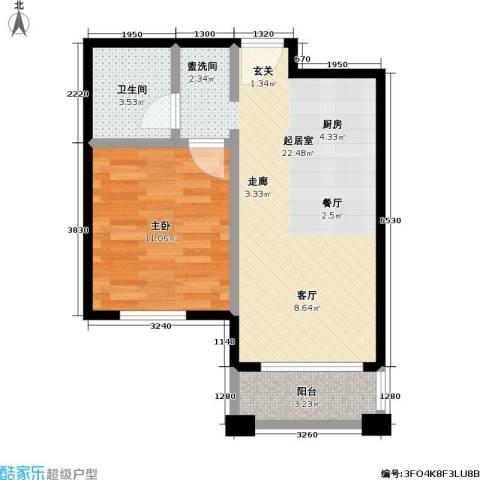 汤INN温泉酒店式公寓1室0厅1卫0厨46.00㎡户型图