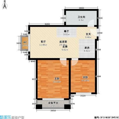 汤INN温泉酒店式公寓2室0厅1卫0厨75.00㎡户型图