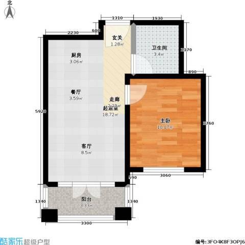 汤INN温泉酒店式公寓1室0厅1卫0厨45.00㎡户型图