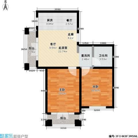 汤INN温泉酒店式公寓2室0厅1卫0厨66.00㎡户型图
