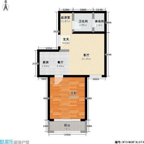 汤INN温泉酒店式公寓1室0厅1卫0厨48.00㎡户型图