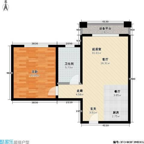 汤INN温泉酒店式公寓1室0厅1卫0厨62.00㎡户型图
