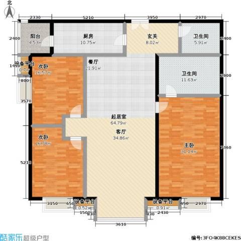 世纪豪景3室0厅2卫1厨184.00㎡户型图