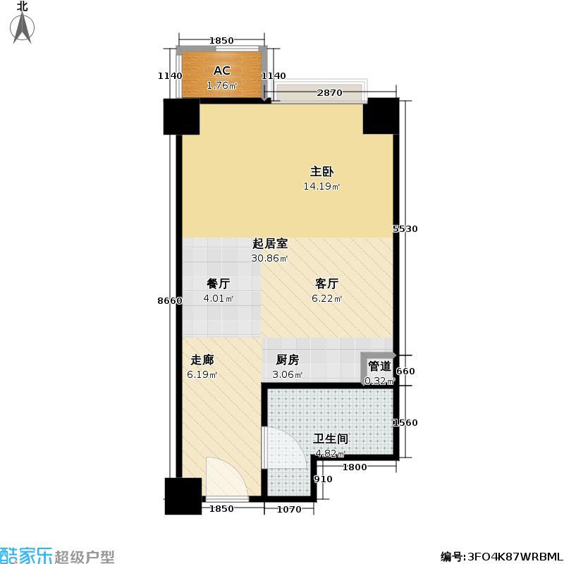 东方郁金香41.34㎡C-03户型零居户型