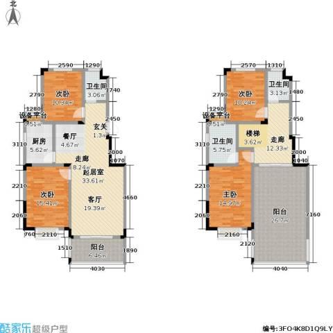麓山里佳园4室0厅3卫1厨207.00㎡户型图