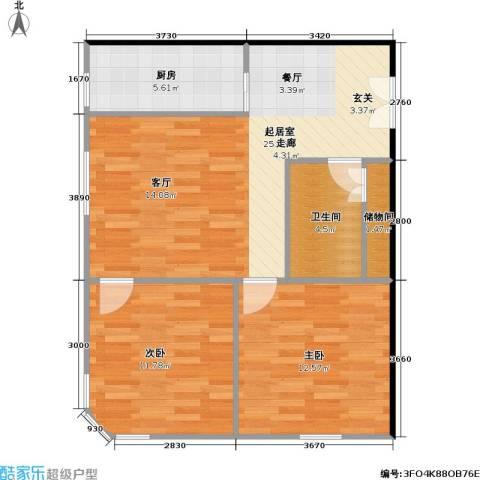 林达海渔广场商业2室0厅1卫1厨82.00㎡户型图