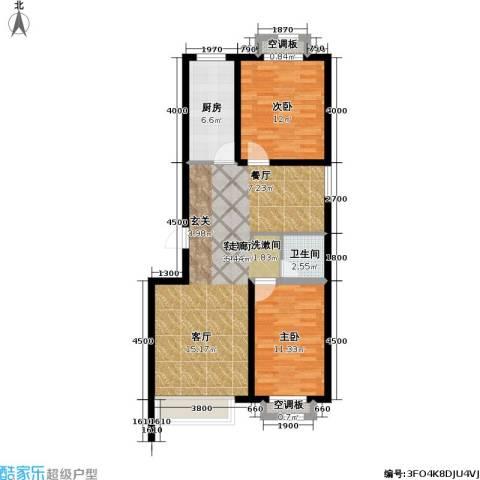 宜居汇・影城名旅2室1厅1卫1厨98.00㎡户型图