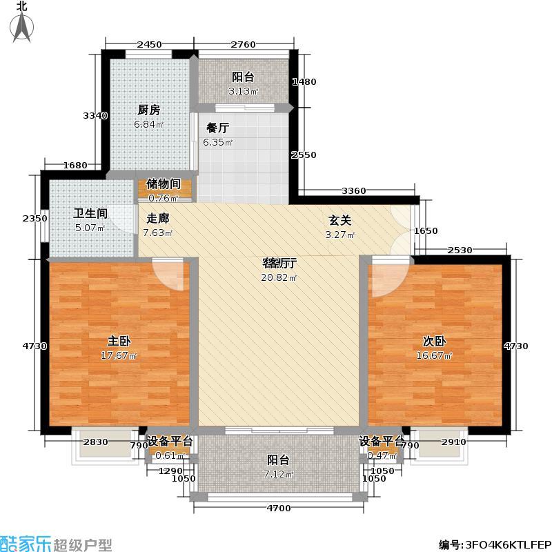 万源城逸郡110.00㎡房型: 二房; 面积段: 110 -120 平方米; 户型