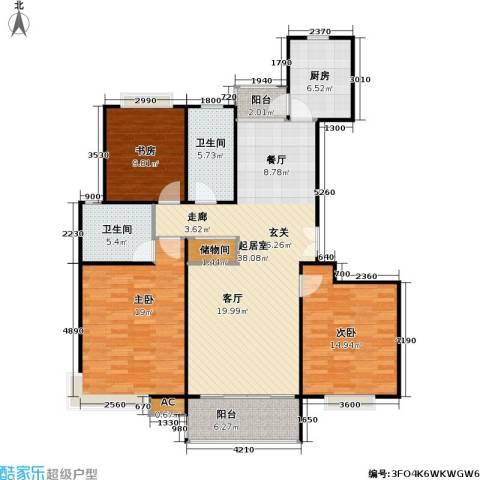 永达城市公寓3室0厅2卫1厨120.00㎡户型图