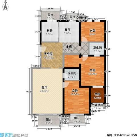 香湾(晶城秀府)4室1厅2卫1厨185.00㎡户型图
