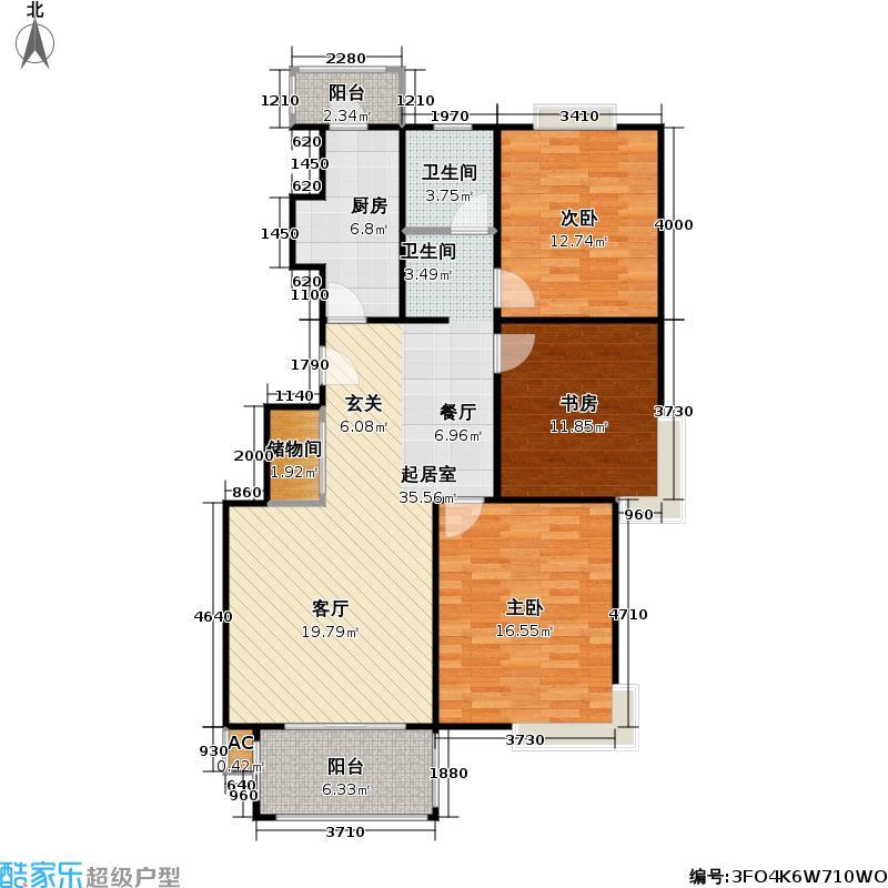 永和家园110.00㎡房型: 三房; 面积段: 110 -120 平方米; 户型