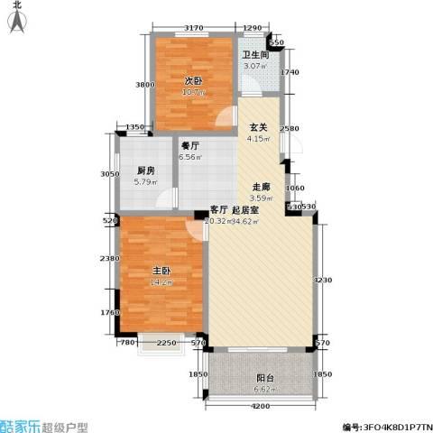 麓山里佳园2室0厅1卫1厨105.00㎡户型图