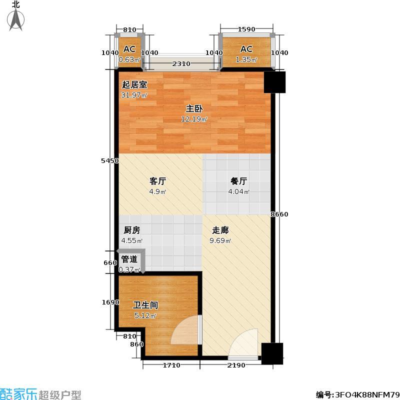 东方郁金香42.54㎡B-06、08、C-02、15户型零居户型