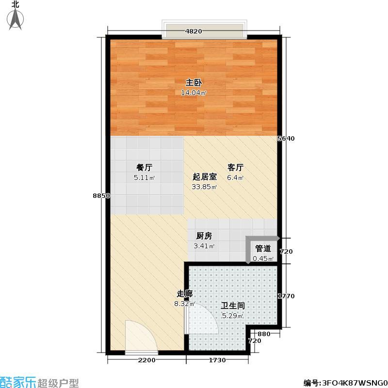 东方郁金香42.00㎡C-01户型一居室户型
