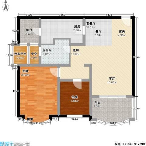 天域2室1厅1卫1厨95.00㎡户型图