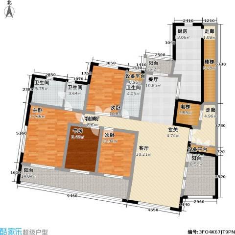 天域4室1厅3卫1厨189.00㎡户型图