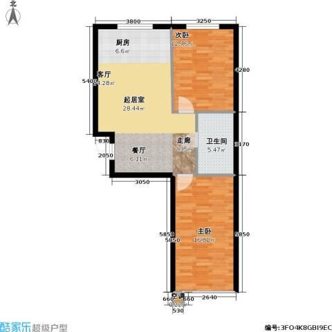 恒泰・望云轩2室0厅1卫0厨83.00㎡户型图