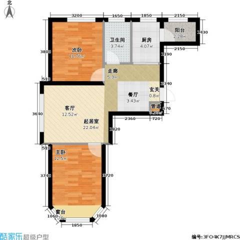 联通格林小镇2室0厅1卫1厨63.22㎡户型图