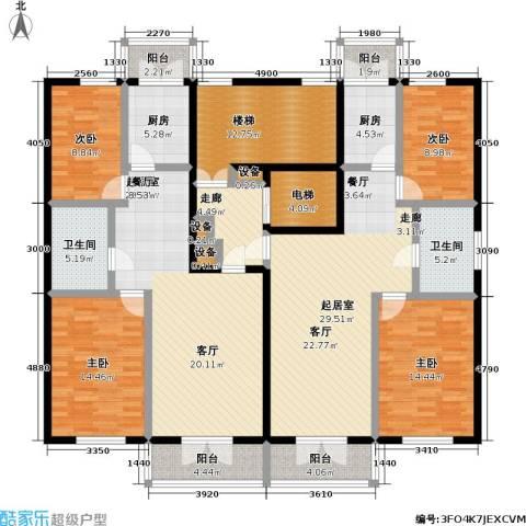 奕人花园4室0厅2卫2厨234.00㎡户型图