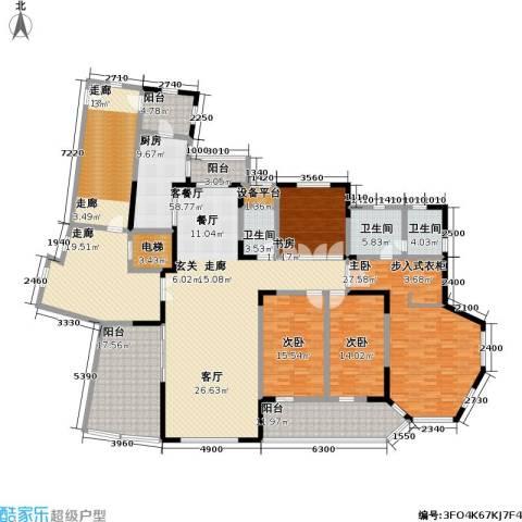 天域4室1厅3卫1厨233.48㎡户型图