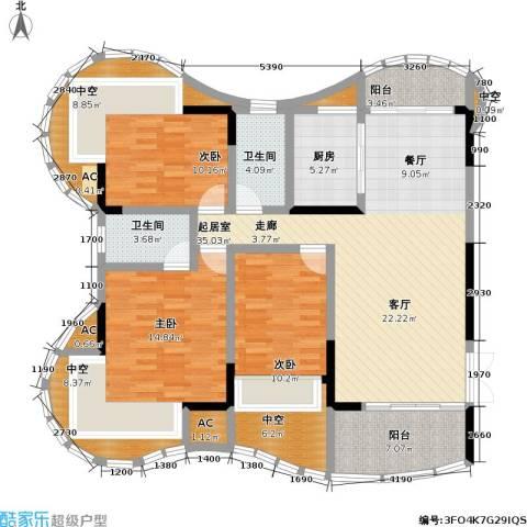 赣晟御澜湾3室0厅2卫1厨175.00㎡户型图