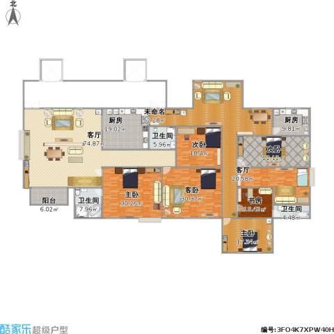 金碧湾花园6室2厅3卫2厨435.00㎡户型图