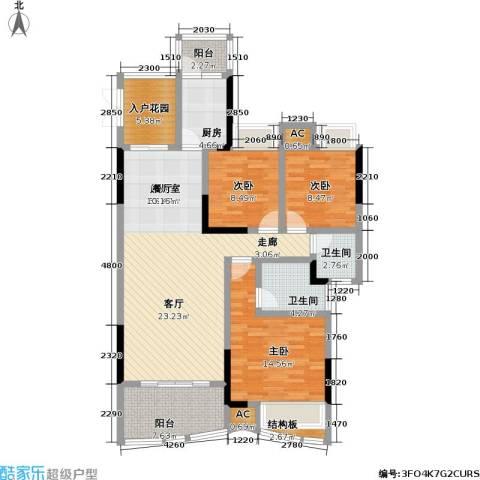 赣晟御澜湾3室0厅2卫1厨146.00㎡户型图