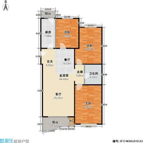 幻星家园3室0厅1卫1厨121.00㎡户型图