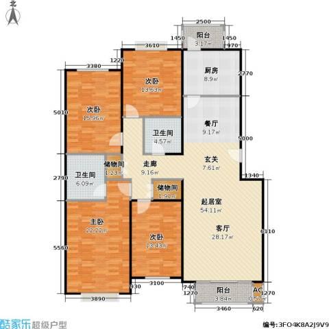 幻星家园4室0厅2卫1厨159.00㎡户型图