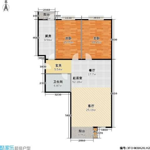 幻星家园2室0厅1卫1厨110.00㎡户型图