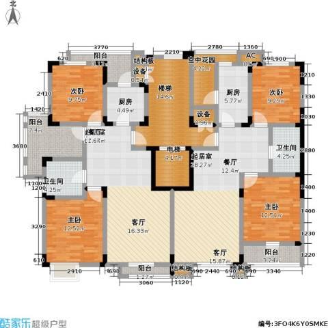 福渔园枫尚河院4室0厅2卫2厨236.00㎡户型图