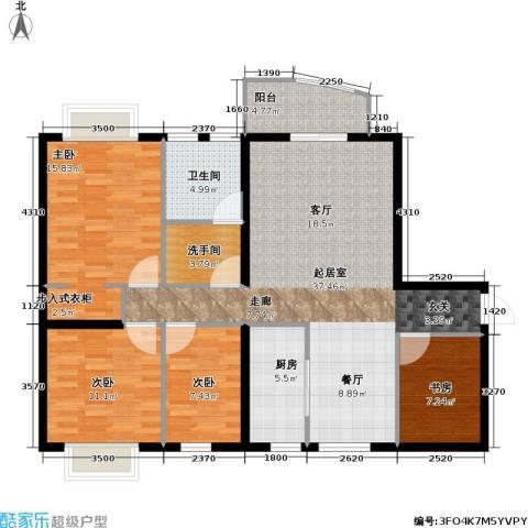 龙湾一品4室0厅1卫1厨133.00㎡户型图