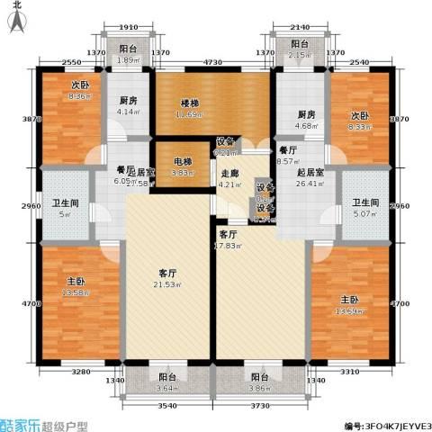 奕人花园4室0厅2卫2厨219.00㎡户型图