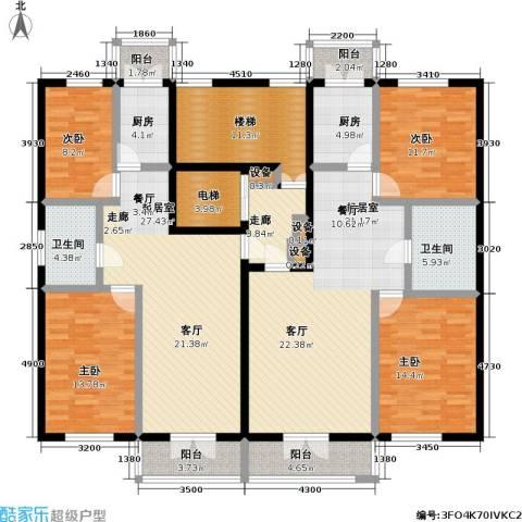 奕人花园4室0厅2卫2厨231.00㎡户型图