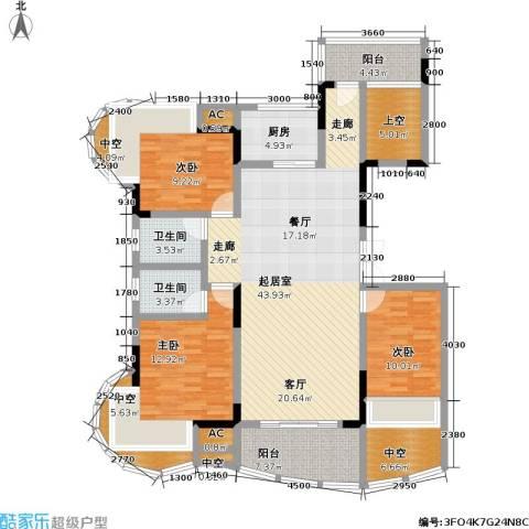 赣晟御澜湾3室0厅2卫1厨132.00㎡户型图