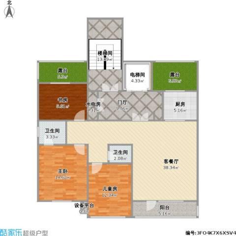 诺睿德国际商务广场3室1厅2卫1厨178.00㎡户型图