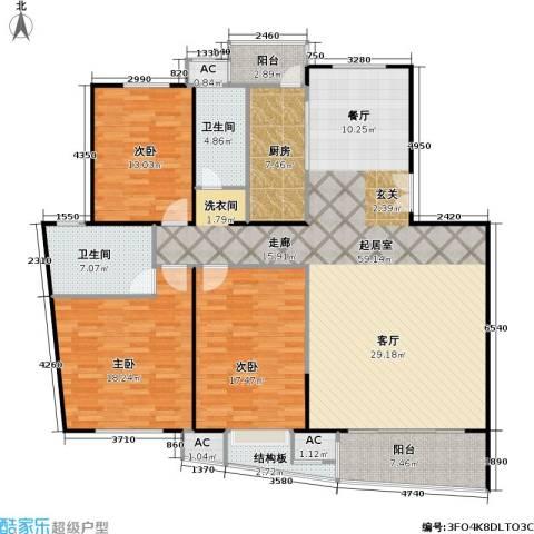 瑞都公园世家3室0厅2卫1厨153.00㎡户型图