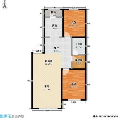 双兴六月天2室0厅1卫0厨119.00㎡户型图