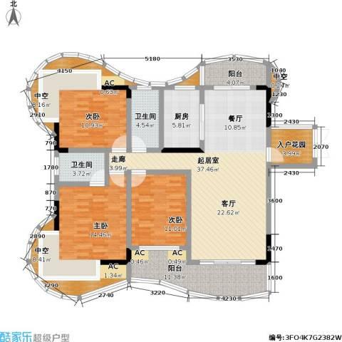 赣晟御澜湾3室0厅2卫1厨183.00㎡户型图